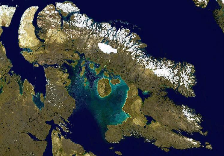 Баффинова Земля на карте
