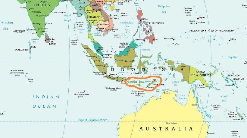 Малые Зондские острова на карте