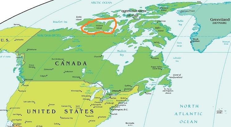 Остров Виктория на карте
